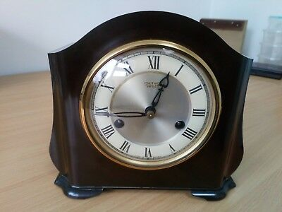 "Smiths Enfield Striking 8 Day Bakelite Mantle Clock The ""st Pauls"" Fwo"