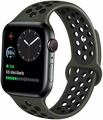 Apple Watch Band 42mm & 44mm Series 4 3 Nike + Silicone Sport Strap Replacement