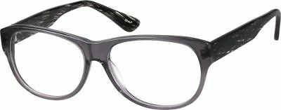 49eed02ffe New Zenni Optical 4414212 Gray Translucent Glasses Frames Case Only Nerd  COOL