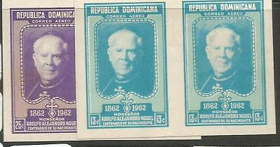 Dominican Republic SC 126-7 Imperf Pairs MNH (10chs)