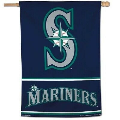 783c74ca89d79 SEATTLE MARINERS ~ (1) Official MLB 28x40 Outdoor House Flag Banner ~ New!
