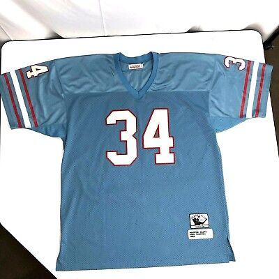 ec182b205 Mitchell   Ness 1980 Houston Oilers Earl Campbell NFL THROWBACK Jersey  Shirt 56