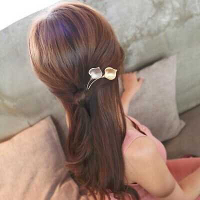3 Pcs Hairpins Tulip Alloy Barrettes Hair Clip Hairpin Bobby Pin for Women Girls