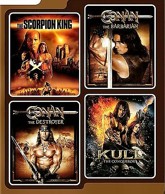 New Dvd -The Scorpion King +  Conan The Barbarian + Destroyer + Kull - 4 Movies!