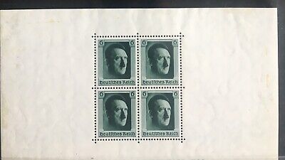 Germany Third Reich 1937 Minisheet MLH