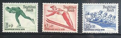 Germany Third Reich 1935 Winter Olympics MNH (6 & 25) MLH (12)