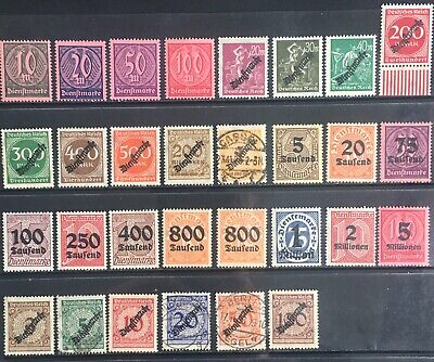Germany 1923 Inflation YearOfficial issues MNH/MLH & Used