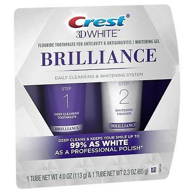 Crest 3D White Brilliance Cleansing Toothpaste and Whitening Gel - UK Seller