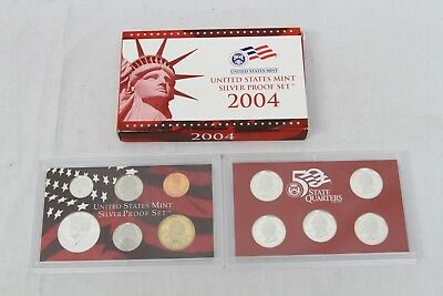 2004-S US United States Mint SILVER Proof Set 11 piece set in ORIGINAL Packaging