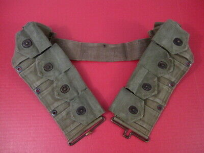 WWII US Army Dismounted M1923 Ammunition Cartridge Belt - M1 Garand - OD Green 9