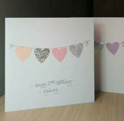 1st Birthday Cards x2 Childrens Handmade Personalised Grandson Daughter Bundle