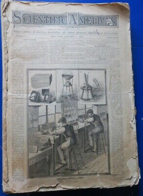 1882 Scientific American Magazine Bound Volume, 39 Issues,Vintage Ads,Inventions