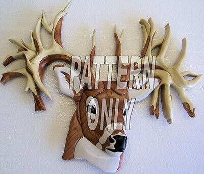 Intarsia wood pattern:DEER  NON-TYPICAL