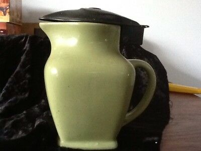 ART DECO Fowler Ware Green Jug
