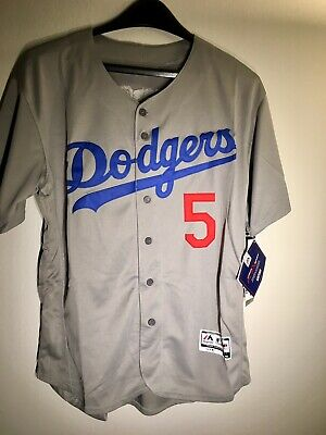 finest selection eced3 28b05 NWT LOS ANGELES Dodgers MLB Corey Seager 5 Away Grey ADULT Majestic jersey