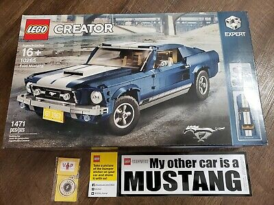 Authentic Lego 10265 Ford Mustang Gt 1967 Expert W Mustang Key
