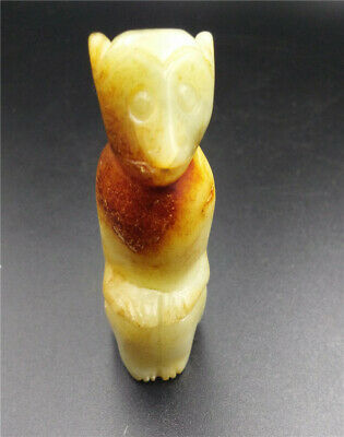 Old Chinese Hongshan Culture Jade stone Hand-carved animal statues - monkey