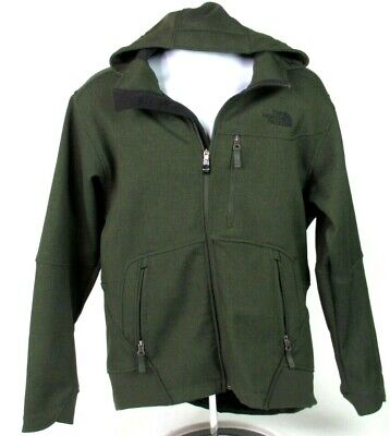de5844073 VINTAGE THE NORTH FACE Mens Medium Green SOFT SHELL JACKET HOODED Plush  LINED