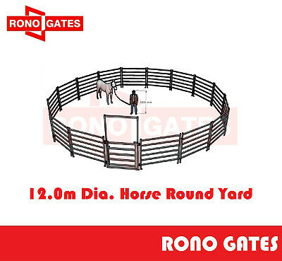 12m Diameter Horse Round Yard Panel 17Pcs incl. 3m tall Gate