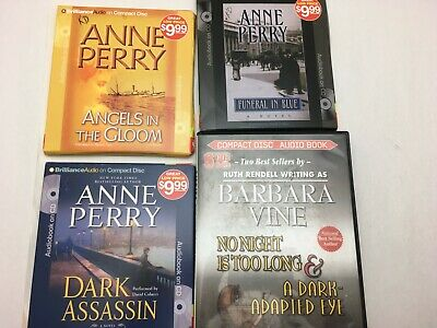 Lot: 5 ANNE PERRY RUTH RENDELL Psychological Suspense Thrillers AUDIOBOOKS CD