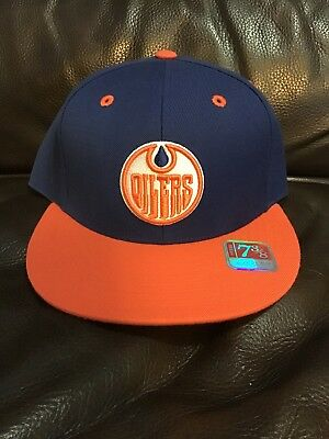 wholesale dealer 3ad33 3986e EDMONTON OILERS Mitchell   Ness Split Fitted 7 3 8 Cap Hat NHL NWT Rare