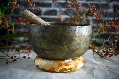 Antique Singing Bowl, Made in Nepal, Very Old, Collected from Dolpa Region