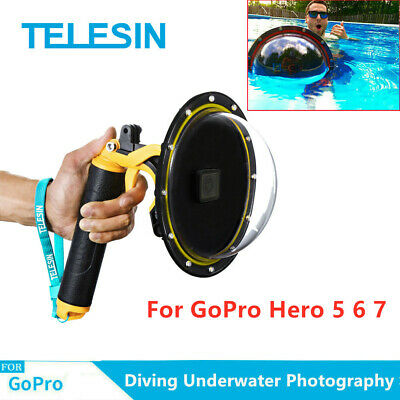 "TELESIN 6"" Dome Port Waterproof Case for GoPro Hero 5 6 7 Underwater Photograph"
