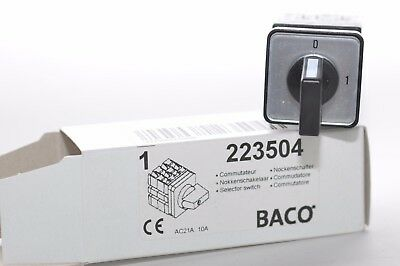 Un Interrupteur Commutateur à Came de Baco Type 223504, 4 Broches
