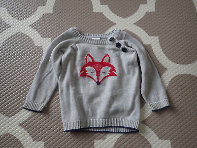Target Boys Knit Jumper 0 6-12 months fox grey