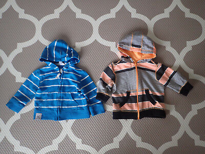 2 x Pumpkin Patch Hoodies 0 6-12 months (fit larger) boys