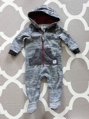 Pumpkin Patch  size 1 12-18 months Baby Boys Onsies Coverall Warm Hoodie