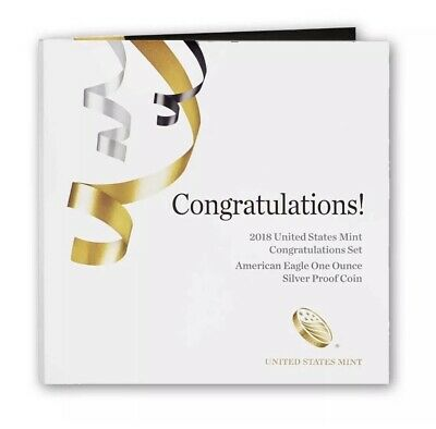 """2018-W """"Congratulations Set"""" - Proof Silver Eagle- FREE SHIPPING (BEST-PRICE)."""
