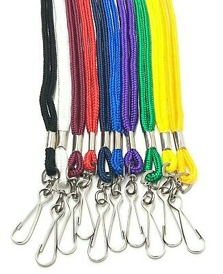 Lanyards with Swivel Clip Clasp Name Tag ID Card Holder Neck Strap Colour