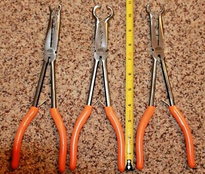 "NEW 3PC MAC Tools 11"" Long Reach Hose Gripper Pliers Set ORANGE"