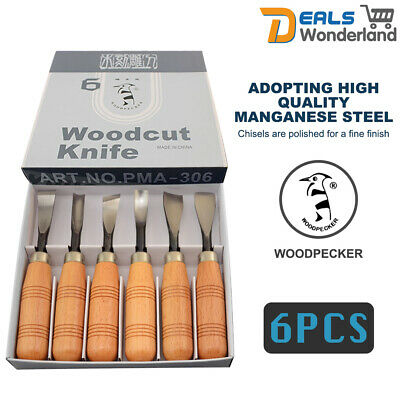 6pcs Professional Woodworking Detail Chisel Wood Carving Hand Chisel Tool Set