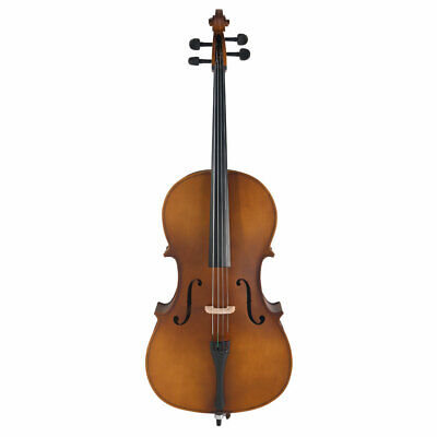 Professional 4/4 Matte Golden Acoustic Basswood Cello Case Bow Rosin Adults US