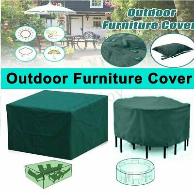 Outdoor Garden Patio Furniture Cover Set Rattan Table Round Cube Waterproof