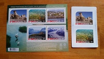 2015 UNESCO World Heritage Park Sites ERROR rare Souvenir Sheet/Booklet stamp-