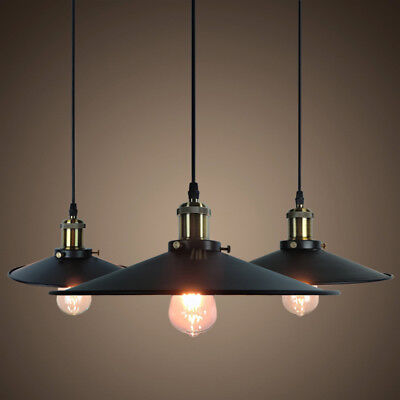 Retro- Hanging Ceiling Light Vintage Industrial Pendant Retractable -Lamp Home
