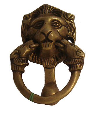 ANTIQUE Style Brass DOOR KNOCKER - LION Style - Fully Brass - RARE (931)