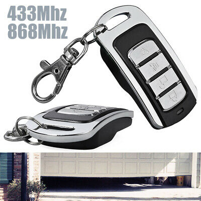 Universal 433/868Mhz Garage Door Wireless Remote Control 4 Channel Transmitter