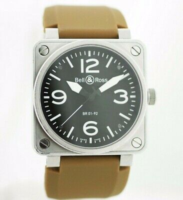 Bell&Ross BR 01-92-S-01004 Aviation 46mm Stainless Rubber Automatic Wrist Watch