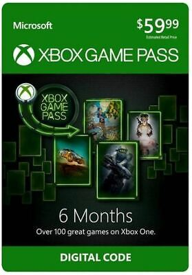 6 month digital code product key for Xbox Game Pass - $59.99 value