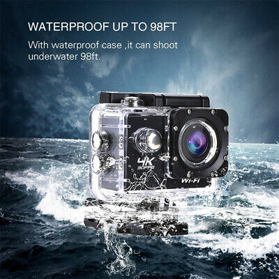 16MP WIFI 4K 1080P Sport DV Video Recorder Cam Action Helmet Camera Waterproof