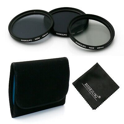 3pcs/lot 49mm Neutral Density ND2/ND4/ND8 lens Filter Kit set ND+2+4+8 with case