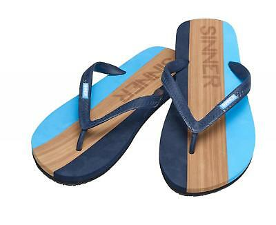 cf236bb2e54 Sinner Mens Capitola Beach Summer Shoes Flip Flops in Blue   Light Brown