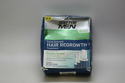 Just For Men 5% Minoxidil 3 Month Supply Extra Strength Hair Regrowth Treatment