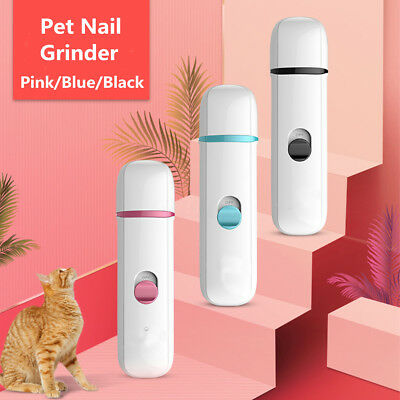 Electric Pet Nail Grinder Dog Cat Claw Trimmer Grooming Clipper Care Tool Kit !