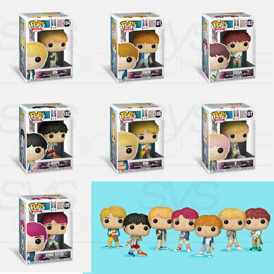 BTS Official Goods FUNKO POP Rocks  7Characters (1 of 7 ) + Tracking Number