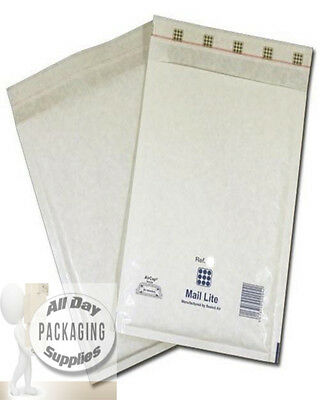 100 White Padded Bubble Envelopes 115x195mm A6 EP2